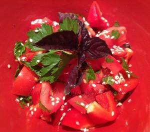 Tomato & Capsicum Salad w fresh Herbs