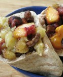Baked Fruit & Nut stuffed Pita
