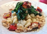 Garlic & Tarragon Gnocchi w Roasted Tomatoes, Wilted Spinach & Walnuts