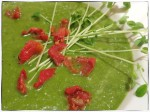 Raw Green Veggies Soup w Semi Dried Tomatoes
