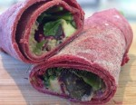 Beetroot Wraps w Greens & Red Cabbage