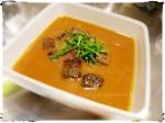 Carrot & Gnocchi Soup w Croutons