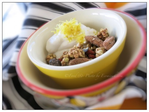 Lemon Coconut Yoghurt w Raw Buckwheat Granola