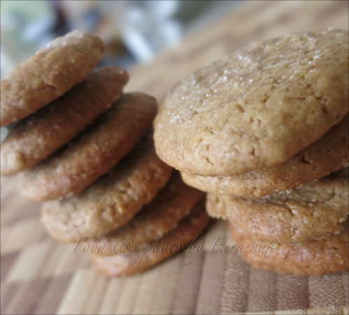 Peanut Butter Ginger Cookies