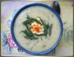 Mint & Cauliflower Soup w Orange Cream
