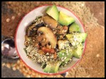 Brown Rice w Mushrooms, Spring Onion, Hemp & Avocado