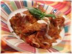 Lasagna Rolls w Walnuts in Tomato Sauce