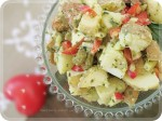 Potato & 'Chicken' Salad w Pesto Sauce