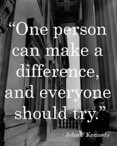 One person can make a difference...