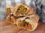 Carrot & Curry Pastry Rolls