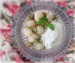 Lychees w Minted Coconut Yoghurt & Hemp Seeds