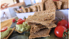 Raw Buckwheat, Flax & Chia Seed Crackers