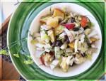 Nectarine & Witlof Salad w Black Beans