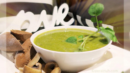 Asparagus & Watercress Soup w Marjoram & Thyme