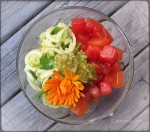Stirfried Watermelon & Fennel Salad w Avo Apple dressing
